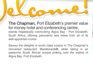 Accommodation Port Elizabeth | The Chapman | Hotel | Conference Venue | Blackbeards Restaurant | Nelson Mandela Bay | South Africa